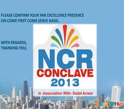 NCR Conclave Event 2013, Dwarka