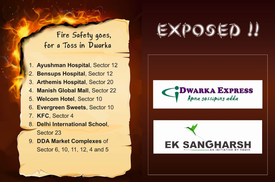 Exposed: Fire Safety goes for a  Toss in Dwarka; Fire Department Reluctant to Act