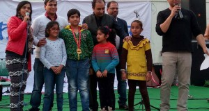 Dilli Haat Janakpuri kalpvraksha drawing competition and Pandavas singing show to promote environment .