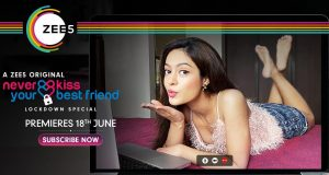 Catch the candid and coy Anya Singh on the very first poster of ZEE5 original 'Never Kiss Your Best Friend: Lockdown Special'