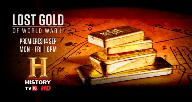 Join the hunt for the 'Lost Gold of World War II', only on History TV18 HD